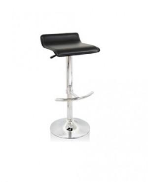 Euro L Gas Lift Bar Stool Chair - Black