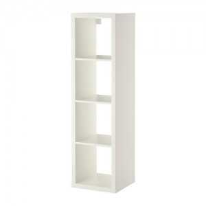 Euro single shelving display unit - white