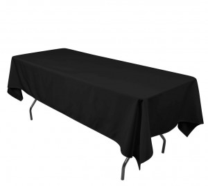 Rectangle Black Table Cloth