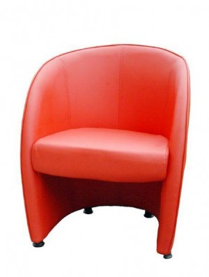 Classic Furnishings Tub Style Lounge Chair - Red