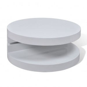 High Gloss Designer Coffee Table with swivelling top (Hi-gloss white)