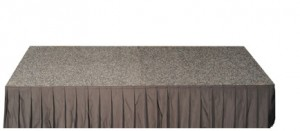 Event Stage - carpeted top with bottom Skirt (600mmH).