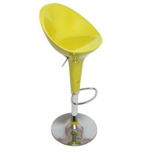 Euro Glossy Gas Lift Bar Stools - Yellow