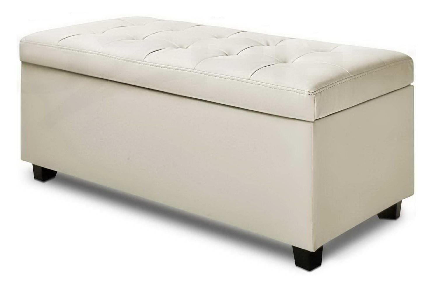 Ottoman Sitting bench -  white