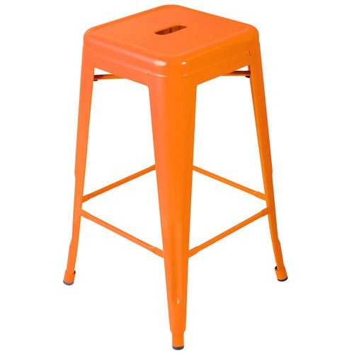 Expo Tolix High Stool - Orange