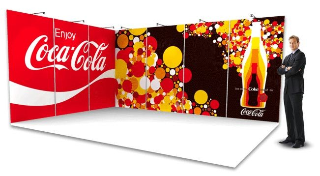 3x Full colour exhibition wall backdrop
