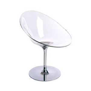 Eros by Kartell with S+ARCK. Swivel Chair Acrylic - Clear
