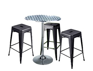 Expo Tolix High Stool Package - Black