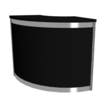 Octanorm Expo Curved counter - Black