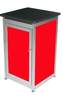 Lockable Expo Display Module - Red