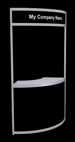 Tallboy Curved Information Counter - Black