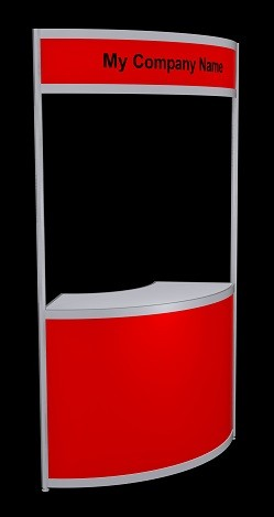 Tallboy Curved Information Counter - Red