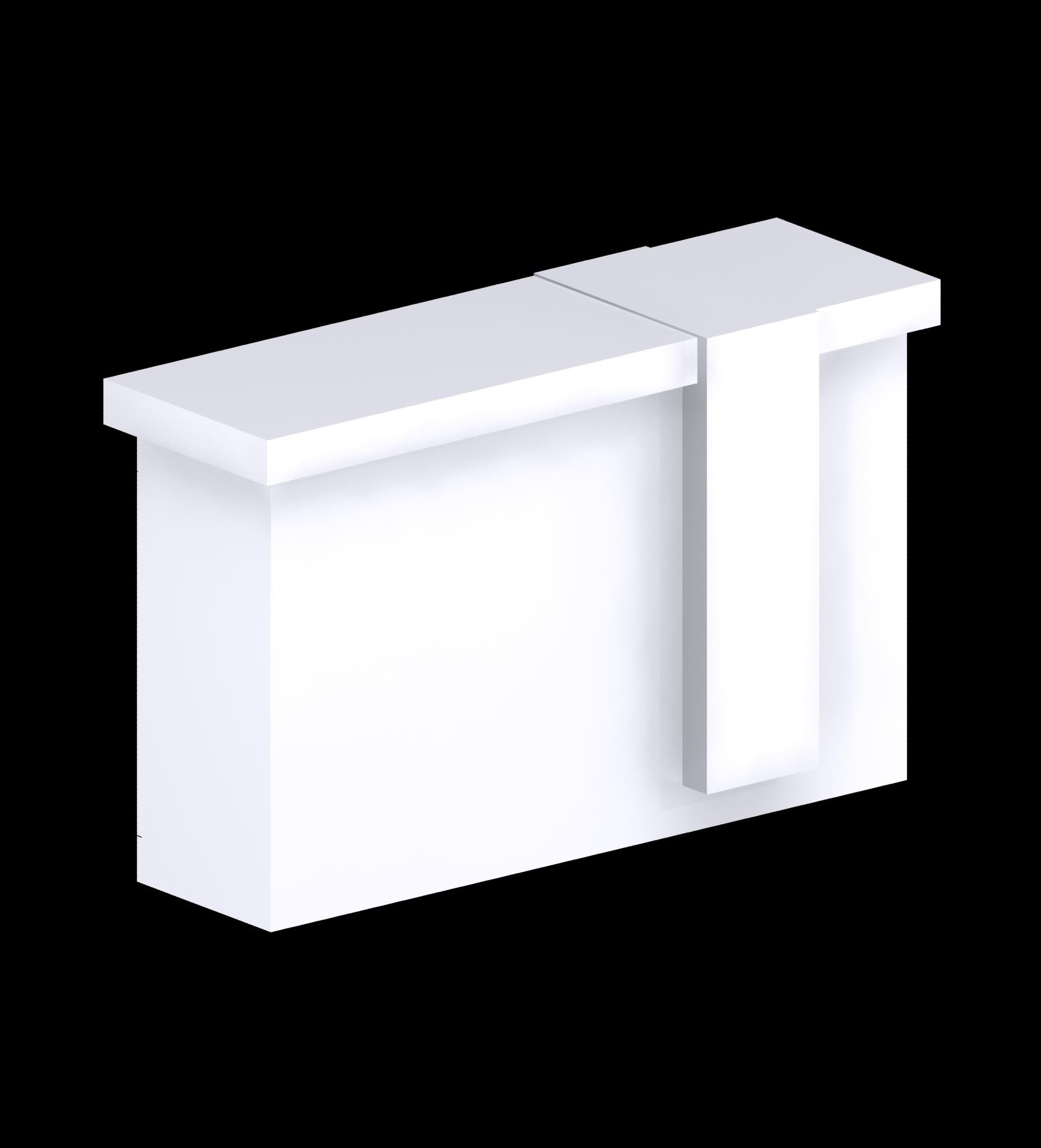 The Custom Made Range - Rectangular counter with lockable storage.
