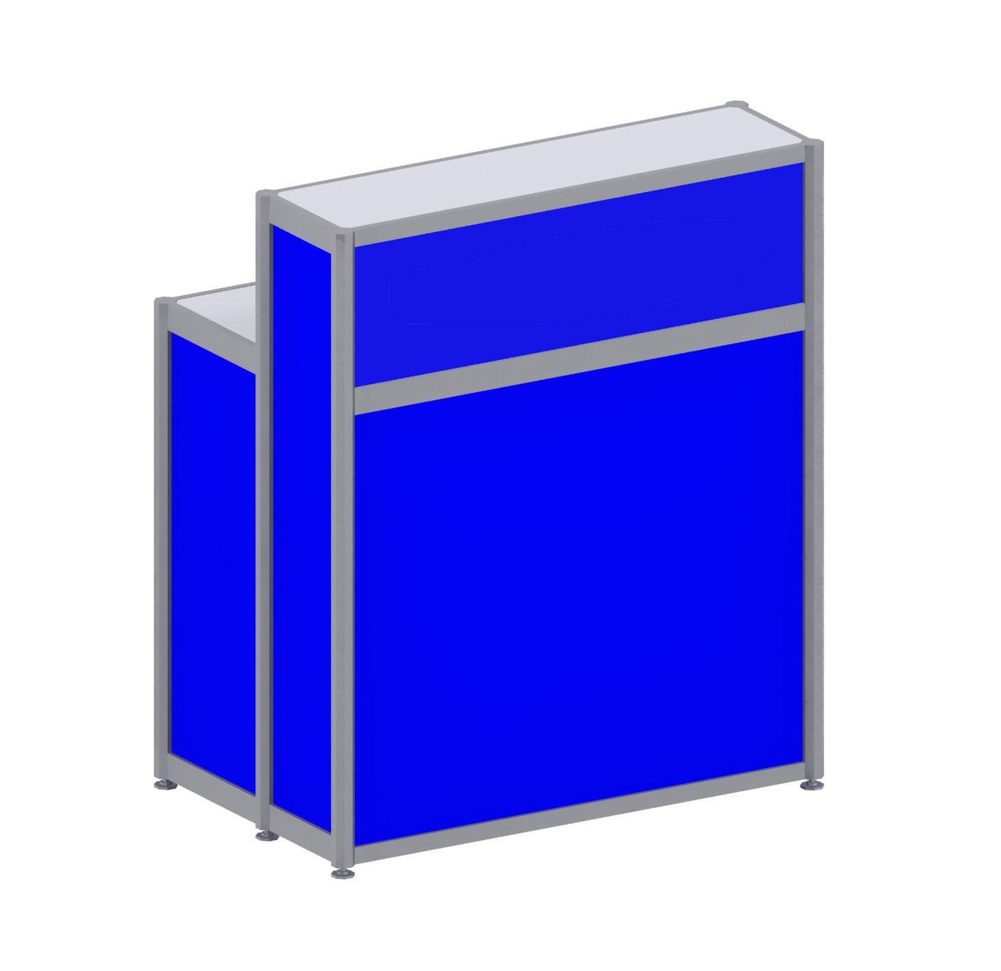 Registration Counter - Blue