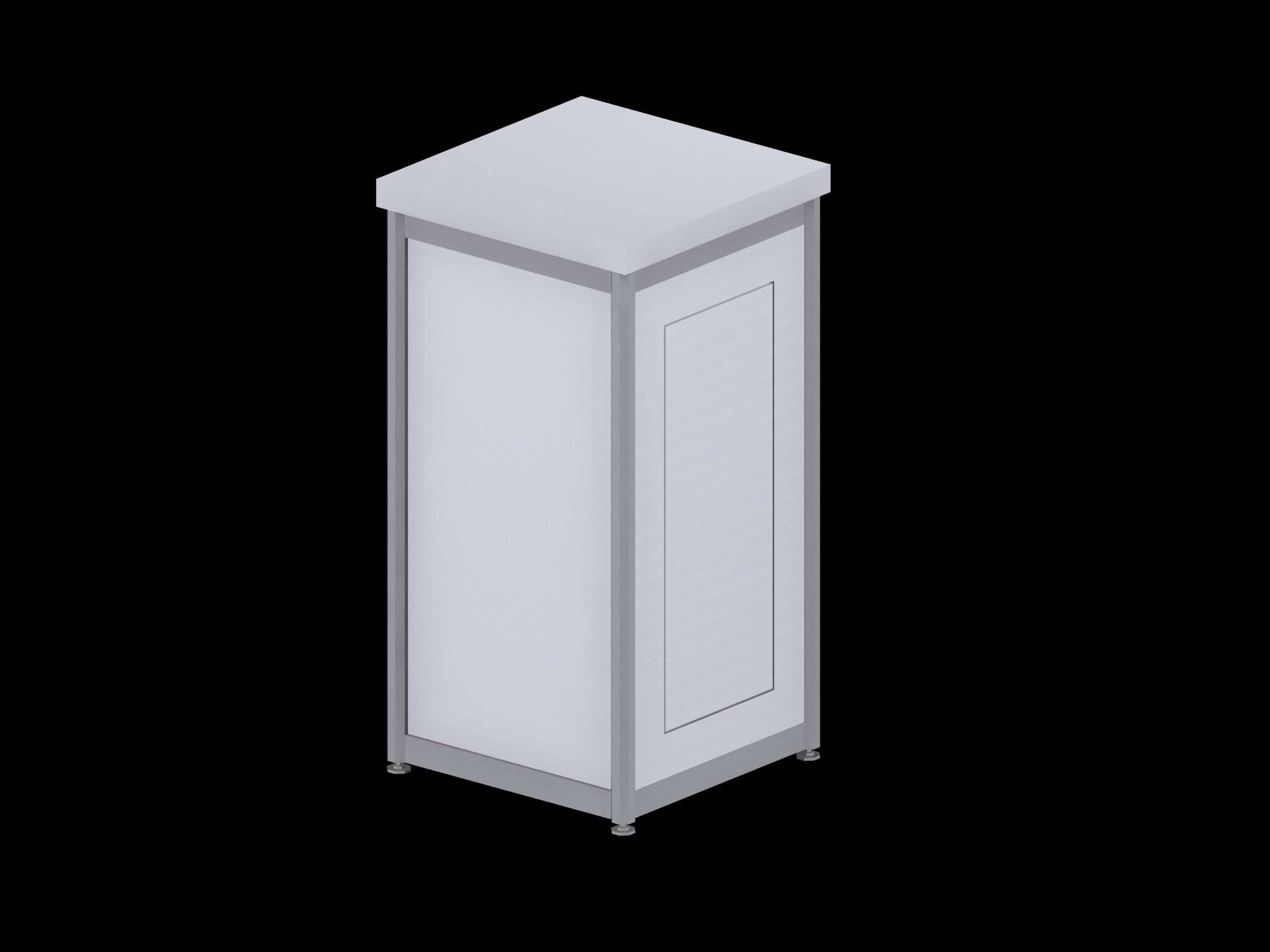 Deluxe Expo Display Module **Lockable** - White