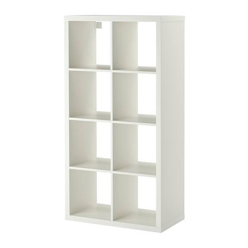 Euro double shelving display unit - white