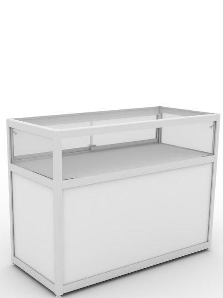 1/4 Glass Display  Counter /  Top Showcase Counter with storage
