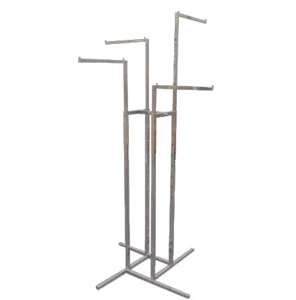 4 way adjustable clothes and show bags rack stand (Straight).