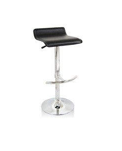 Euro L Gas Lift Bar Stool Chair - Black