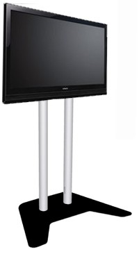 Plasma / LCD / TV Floor Stand - Silver / Black