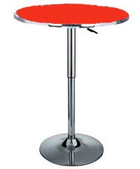 Delux adjustable gas lift bar table - Red top
