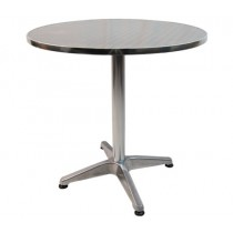 Aluminium Bar / Kitchen / Cafe / Restaurant Outdoor / Indoor Table - Round Shaped