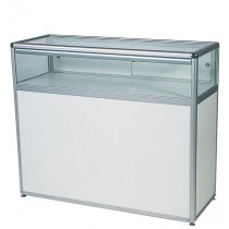 1/4 Glass Display  Cabinet /  Top Showcase Counter with storage