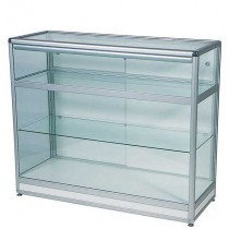 Full Glass Display Cabinet /  Showcase Counter with storage