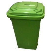 Light Green Waste Bin with Lid - 60 Litre