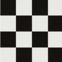 Flat Floor - Black & White Chequered