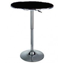 Delux adjustable gas lift bar table - Black top