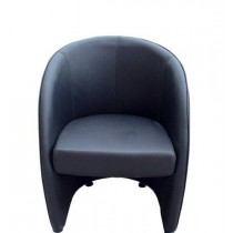 Classic Furnishings Tub Style Lounge Chair - Black
