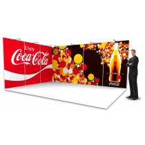 6x Full colour exhibition wall backdrop