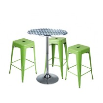 Expo Tolix High Stool Package - Green