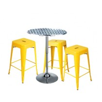 Expo Tolix High Stool Package - Yellow