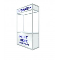 Tallboy Recangular Registration Counter