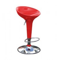 Euro Glossy Gas Lift Bar Stools - Red