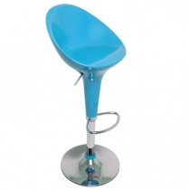 Euro Glossy Gas Lift Bar Stools - Sky Blue