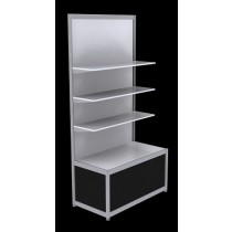 Free Standing Octanorm Shelf Unit - Black