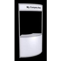 Tallboy Curved Information Counter - White