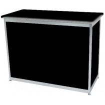 Octanorm Rectangular lockable counter -Black