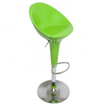 Euro Glossy Gas Lift Bar Stools - Lime Green