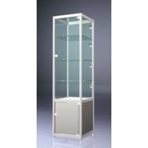 Lockable Glass Display Showcase Cabinet with storage