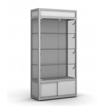 Upright Lockable Glass Display Showcase Cabinet with storage