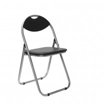 Padded Folding Chair - Black
