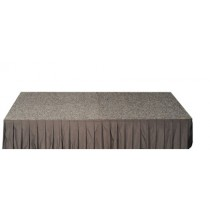 Event Stage - carpeted top with bottom Skirt (300mmH).