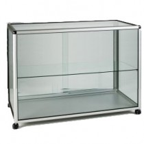 Glass Display  Cabinet /  Showcase Counter on wheels