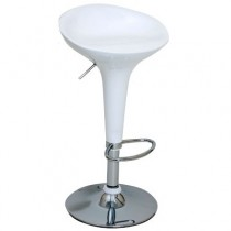 Euro Glossy Gas Lift Bar Stools - White