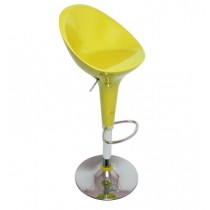 Euro Glossy Gas Lift Bar Stools - Yellow