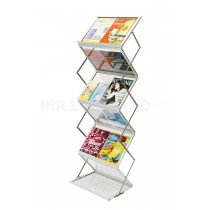 A3 Literature ZigZag Double sided brochure rack  stand